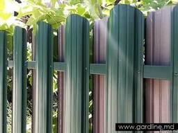 Gard din stachet metalic zincat. Gard sipca vopsit. Fabricat