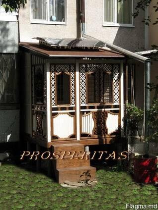 Беседка - Веранда - терраса, пристройка к жилому дому.