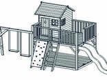 Детская деревянная игровая площадка - фото 2