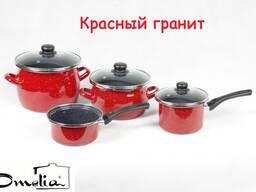 """Кастрюля стальная эмалированная серии """"Гранит"""""""