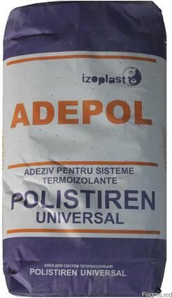 Клей для приклеивания/армирования полистирола Adepol 25 кг