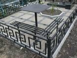 Оградки кресты стол решетки перила ворота забор навесы ковка - фото 1