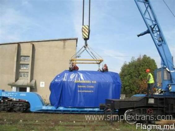 Transport de transformatoare electrice, generatoare diesel,