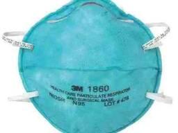 Респираторы 3m 1860, 8210, KN 95, 3-слойные маски и тп