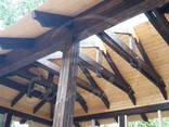 Terase publice. Carporturi, copertine din lemn. - photo 3